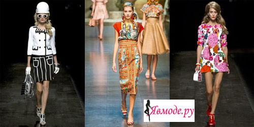 Мода весна-лето 2013 - стиль 60-х