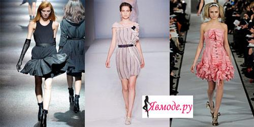 Модные платья 2013 – воланы и оборки