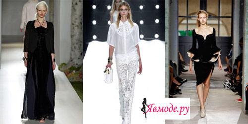 Модные цвета 2013 - черный и белый