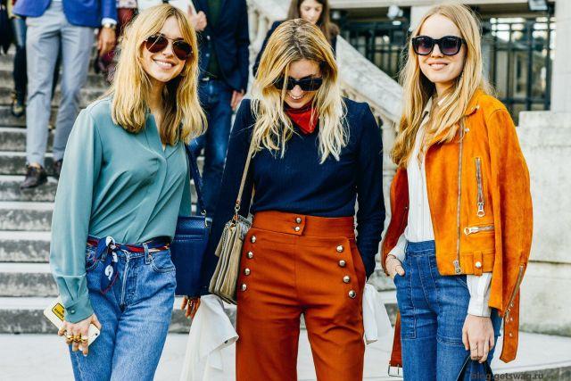На фото: американский стиль кантри - джинсы, куртки.