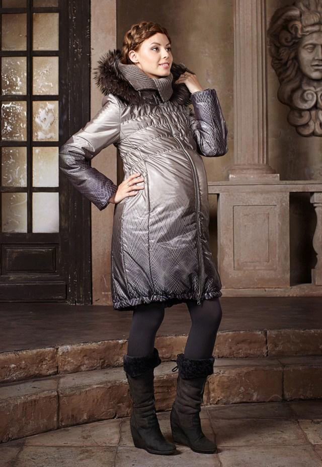 Красивый зимний наряд для беременных женщин