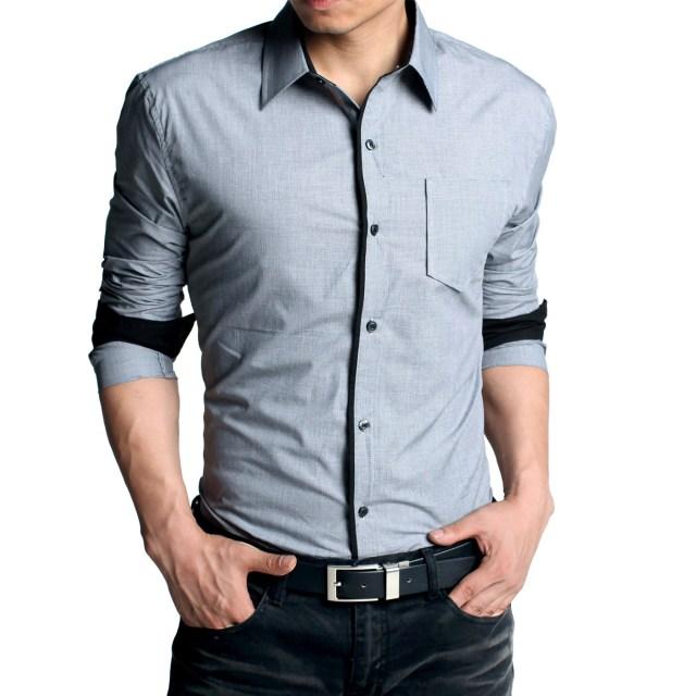 Фото новинки: приталенная мужская рубашка с джинсами