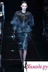 Мех, перья и бахрома - модное украшение одежды в сезоне осень-зима 2013-2014