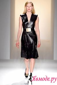 Calvin Klein осень-зима 2013-2014 - кожаные платья