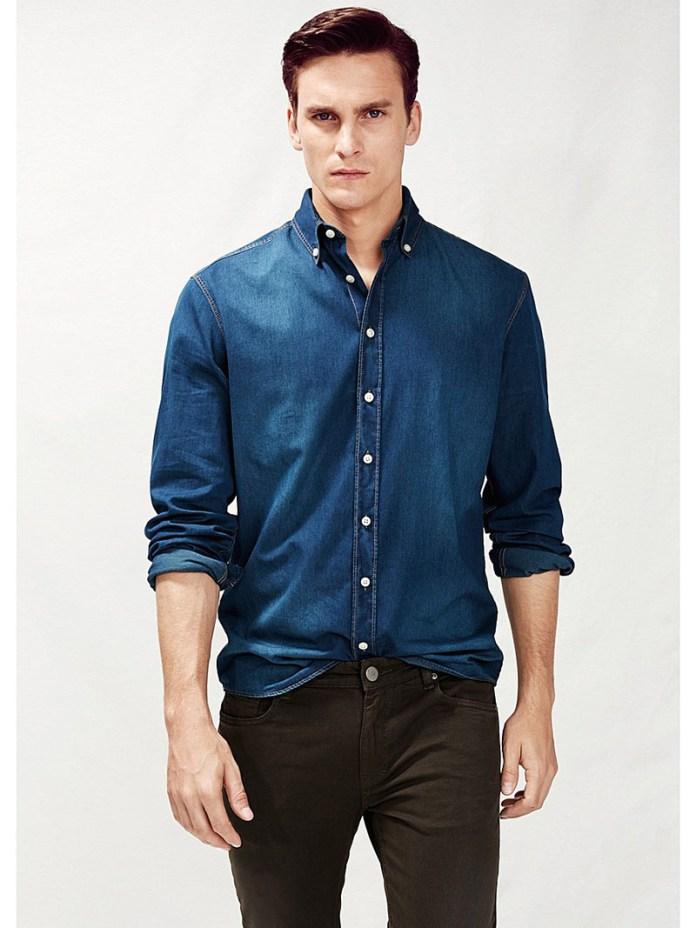 Фото новинка сезона: джинсовые мужские рубашки