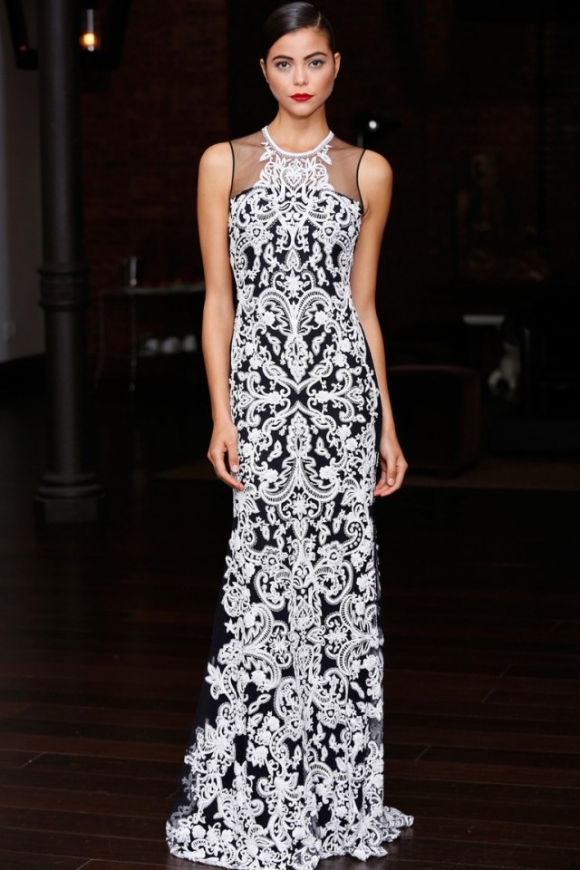 Длинное модное платье — Naeem Khan весна-лето