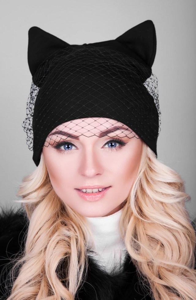 Фото новинка: шапка с вуалью