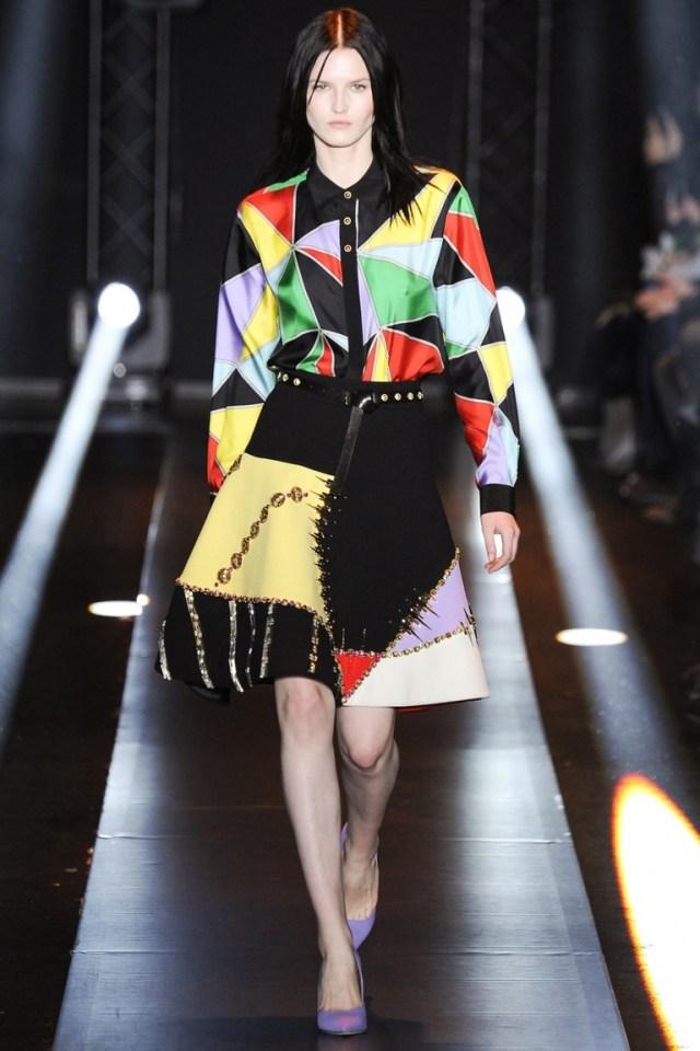 Модная рубашка 2015 с геометрическим принтом – фото новинка в коллекции Fausto Puglisi