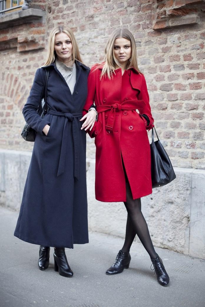 Модели короткого и длинного пальто с поясом – фото новинки сезона
