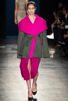 Разноцветное модное пальто осень-зима 2014 -2015 – Altuzarra