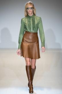 Кожаная модная рубашка осень-зима 2014-2015 – Gucci