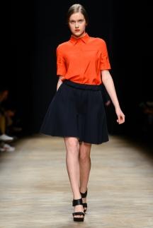 Оранжевая рубашка с коротким рукавом осень-зима 2014-2015 – Ksenia Schnaider