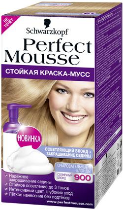 Perfect Mousse – это единственная краска-мусс без аммиака