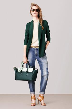 Модные джинсы весна лето 2015 с классическим пиджаком – Bally