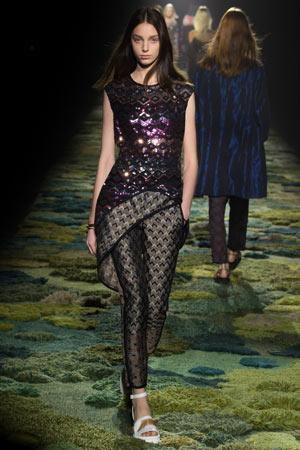 Модные укороченные брюки весна лето 2015 - Dries Van Noten