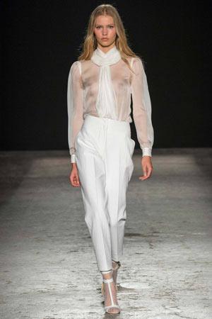Модные брюки весна лето 2015 с высокой талией и стрелками - Francesco Scognamiglio