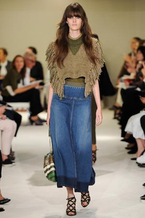 Длинная джинсовая юбка весна лето 2015 – Sonia Rykiel