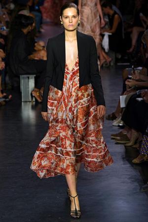 Цветочное платье с модным пиджаком 2015 – коллекция Altuzarra