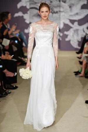Свадебное платье с длинными рукавами Carolina Herrera весна лето 2015