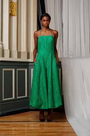 Модный зеленый сарафан весна лето 2015 – Rosie Assoulin