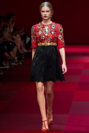 Милое модное платье весна лето Dolce & Gabbana