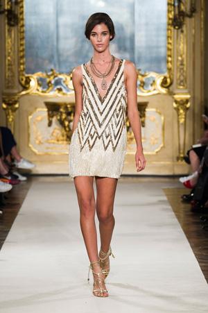 Модное вечернее летнее платье 2015 фото Elisabetta Franchi