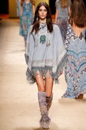 Платье пончо в этно-стиле - фото мода 2015 Etro