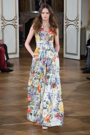 Длинное платье 2015 с цветочным принтом – фото Yanina