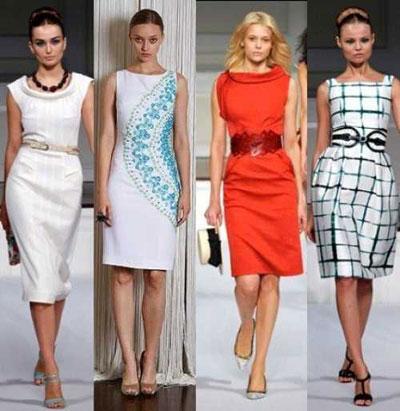 Фото модели платья футляр