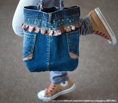 Сумка из джинсов своими руками