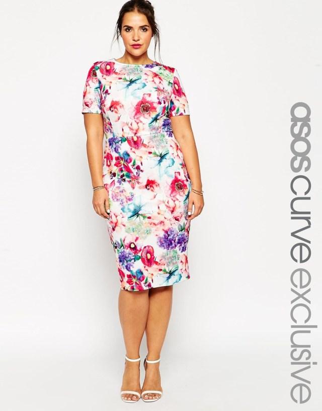 Модное платье миди для полных женщин - ASOS CURVE, цена 5 294,10 руб.