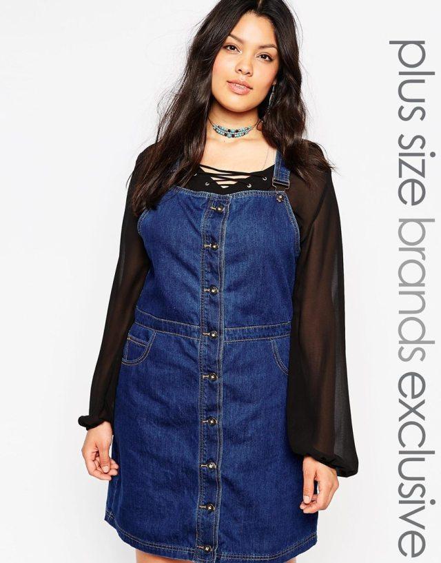 Джинсовое платье для полных женщин - Alice & You, цена 3 764,69 руб.