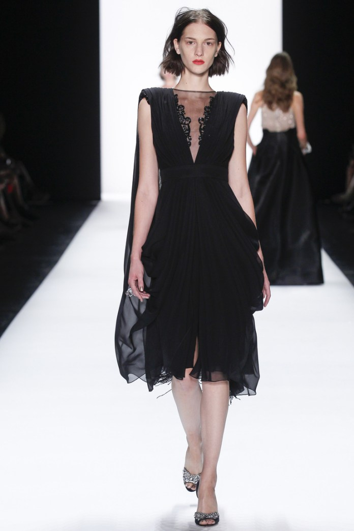 Роскошное модное черное платье 2016 – прекрасный вечерний наряд – фото новинки в коллекции Badgley Mischka
