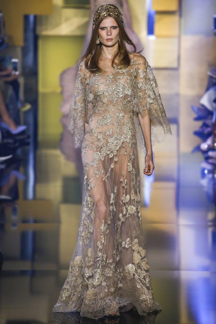 Нежное новогоднее платье 2016 – фото новинка в коллекции Elie Saab