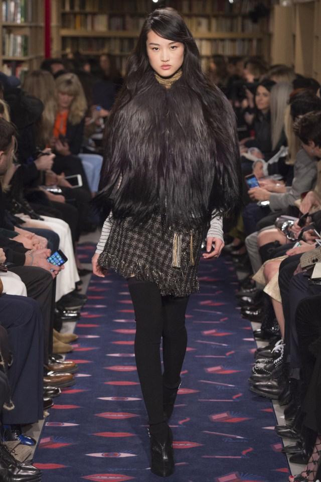 Короткая коричневая модная куртка 2016 – фото новинки от Sonia Rykiel