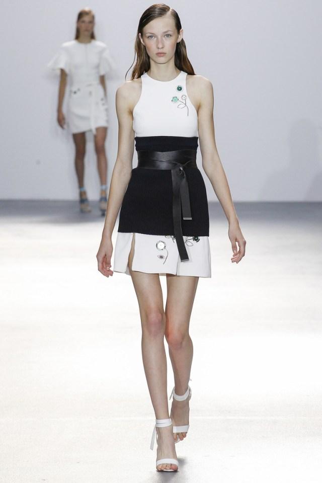 Модная черно-белая модель юбки 2016 – фото новинка от David Koma