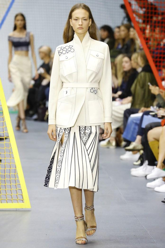 Модная модель юбки 2016 в полоску – фото новинка от Peter Pilotto