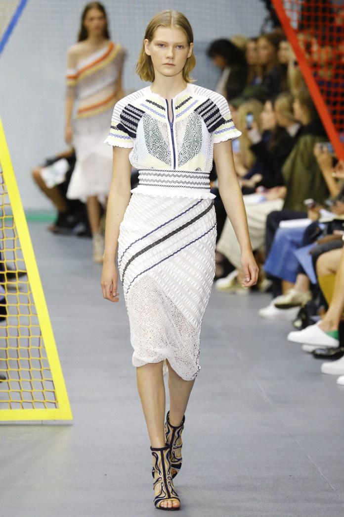 Кружевная модель юбки 2016 – фото новинка в коллекции Peter Pilotto