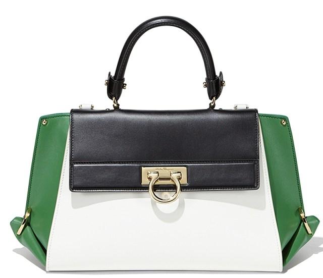 Модная женская сумка, модель саквояж - Salvatore Ferragamo