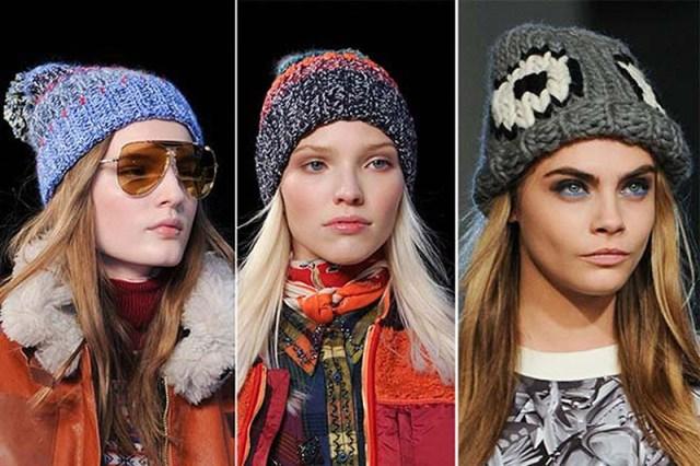 Модные вязаные шапки 2016 - фото новинка сезона