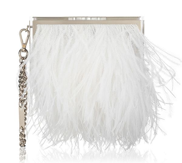 Белая модная сумка в новой коллекции Jimmy Choo