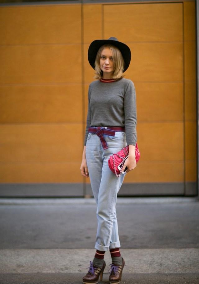 Весна 2016-вечная джинса. Уличная мода Париж 2016.