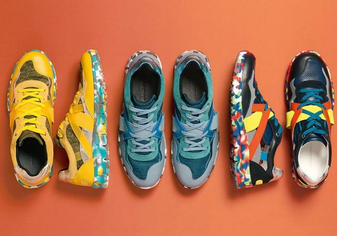 Яркая спортивная обувь из коллекции от Dolce&Gabbana.