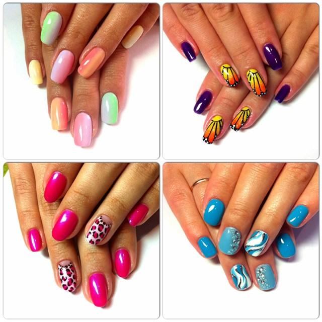 Модный маникюр весна лето 2016-маникюр с цветочными мотивами.