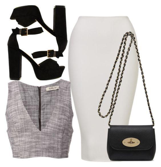 На фото: универсальные вечерние наряды - базовой является юбка каркандаш.