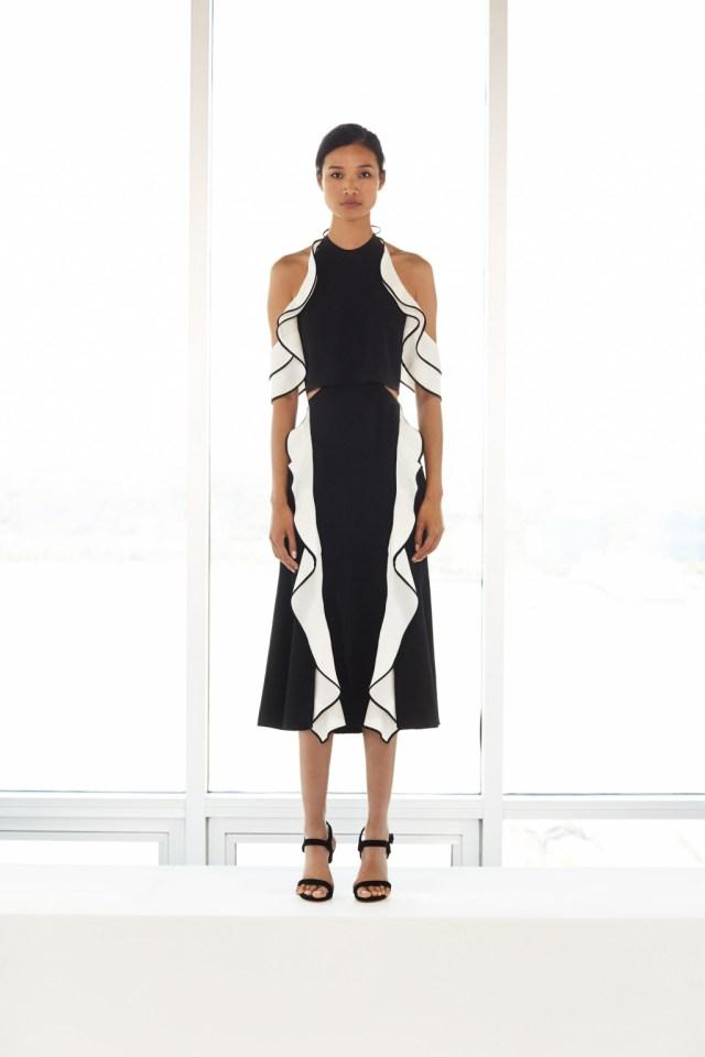 Воланы на платье– модные тенденции этого сезона фото из коллекции Jonathan-Simkhai.