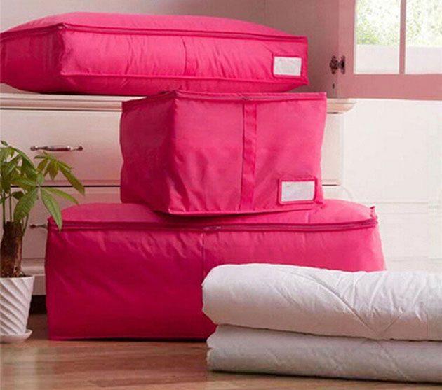 Яркие и модные чехлы для хранения одеяла и подушек
