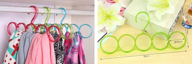 Универсальная вешалка для платков - удобная вещь для тех, у кого много платков и шарфов