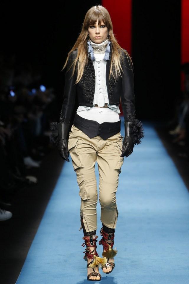 Модные пиджаки, украшенные декоративными деталямизима осень 2016 и зима 2017 фотообзор коллекции Dsquared².