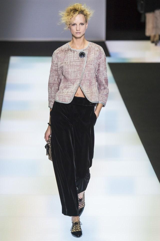 Широкие классические брюки 2017 фотообзор коллекции Emporio-Armani.